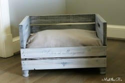 DIY Wooden Crate Pet Bed